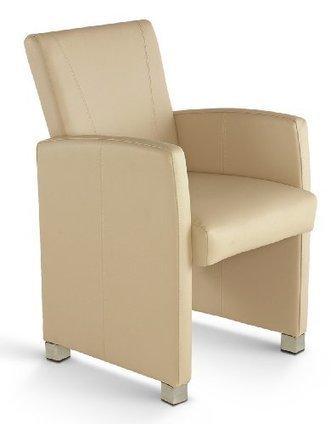 *-* Günstige –    SAM® Leder Club Sessel Max in creme mit Ziernähten, Füße edelstahlfarbig, angenehme Polsterung, pflegeleicht, teilzerlegt Auslieferung durch Paketdienst | Günstige Lederstühle | Scoop.it