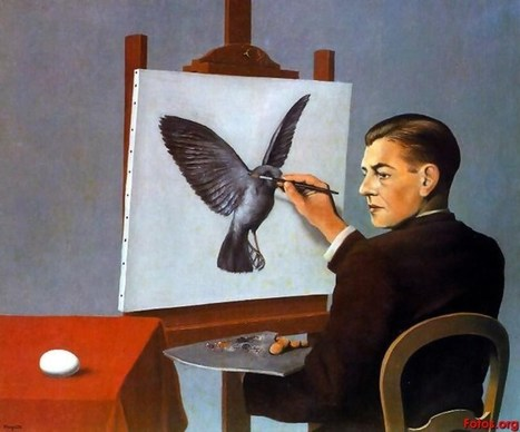 Creative Inspiration:  Clairvoyance by Rene Magritte (A Self-Portrait) | Magritte | Scoop.it