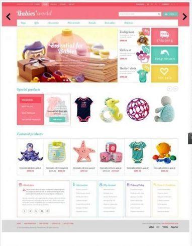 Prestashop Baby Apparel Online Template – ET Babies   Premium iThemes   Themes & Templates   Scoop.it