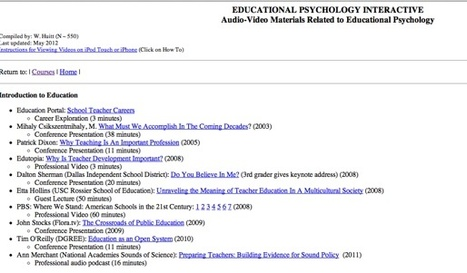 Educational Psychology Interactive: Videos in Educational Psychology | Video for Learning | Scoop.it