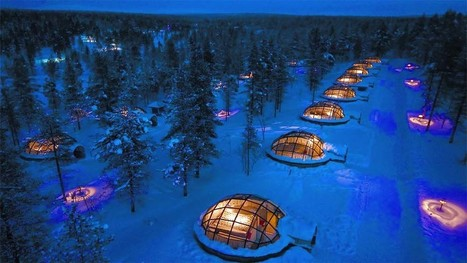 Watch the Northern Lights from Glass Igloos at Hotel Kakslauttanen, Finland | WearFour.org | Scoop.it