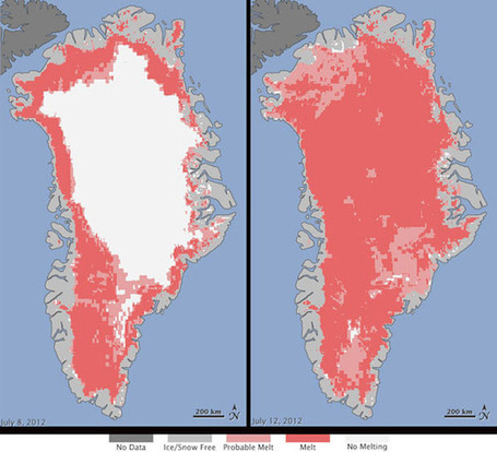 Satellites Reveal Sudden Greenland Ice Melt | Geography Education | Scoop.it
