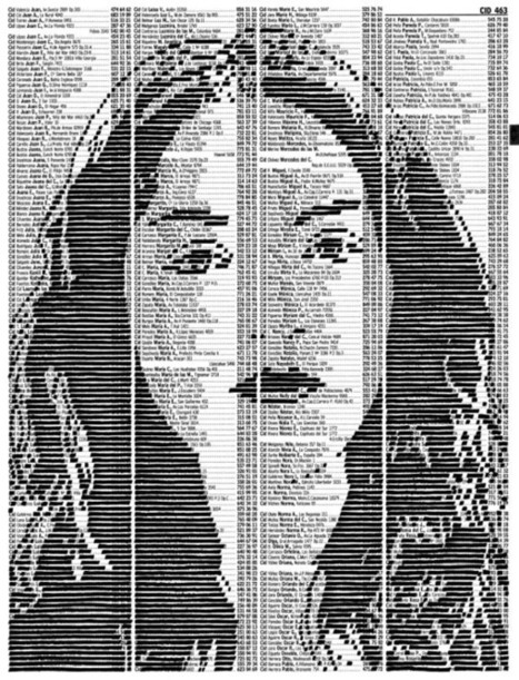 Phone Book Pages Turned into Amazing Ink Portraits | Creative Paper & Ephemera Art | Scoop.it