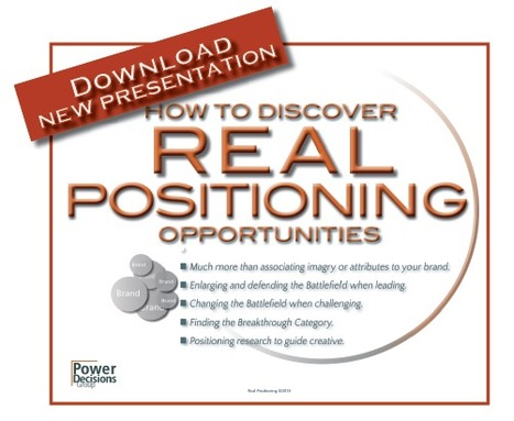 How to Discover Real Positioning Opportunities … new presentation available for download | Brand & Positioning Research Tools | Scoop.it