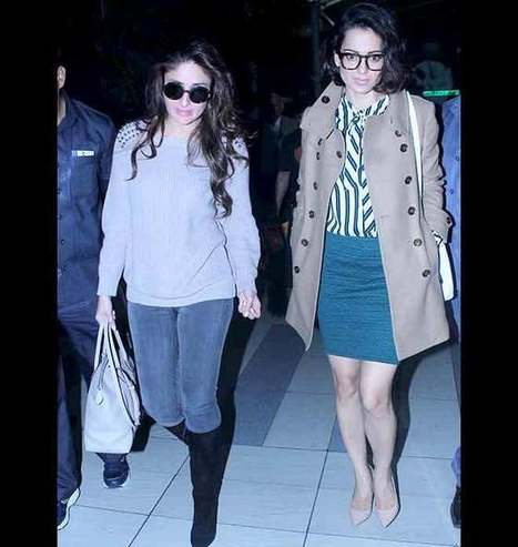 Learn: Kangana Ranaut And Kareena Kapoor's Airport Styling Tips | Celebrity Fashion Trends | Scoop.it