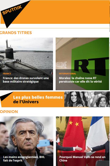La Russie lance son service d'informations Sputnik en français | DocPresseESJ | Scoop.it