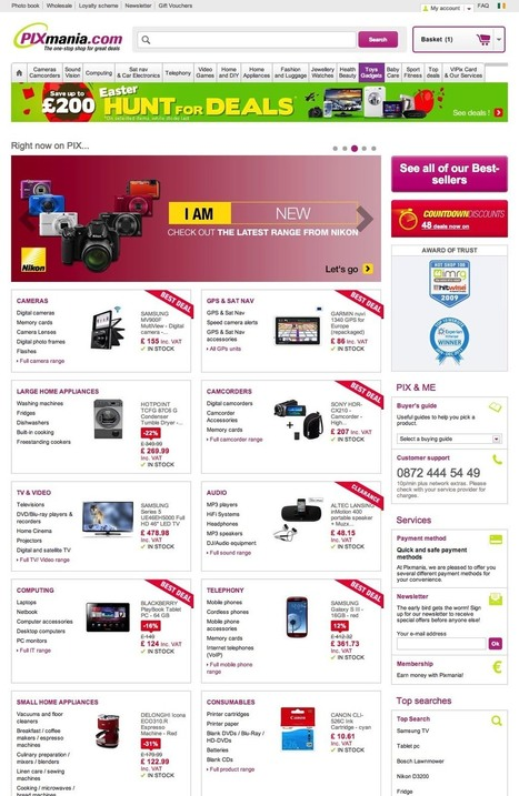 Homepage Usability: Can Users Infer the Breadth of Your Product Catalog? - Articles - Baymard Institute | Ecommerce Advice | Scoop.it