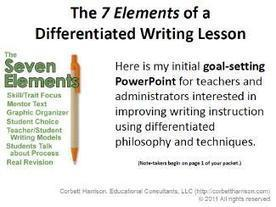 "Always Write: Cobett's ""7 Elements of a Differentiated Writing Lesson"" Resources 