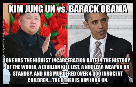 Twitter / VictoriaGilad: Kim Jong-un vs. Barack Obama ...   Restore America   Scoop.it