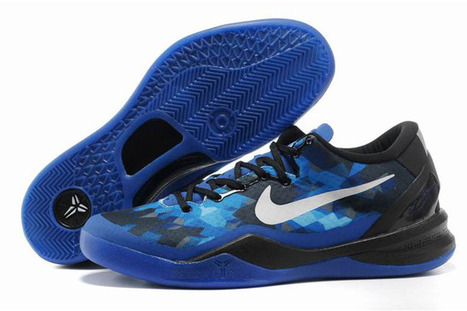 Kobe Bryant VIII(8) Royal Blue/White/Black Colorways Nike Basketball Shoes | popular list | Scoop.it