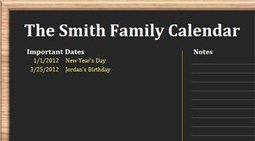 Excel Blog - Beyond spreadsheets: Spiffy Excel calendars for 2012 | Office Technology | Scoop.it