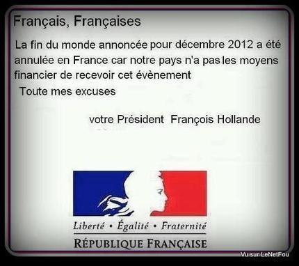 La fin du monde victime de la dette française | Solvay | Scoop.it