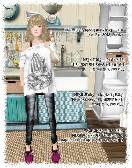Free@Hair, Mesh Tops, Mesh Jeans, Mesh Shoes | Freebies and cheapies in second life. | Scoop.it