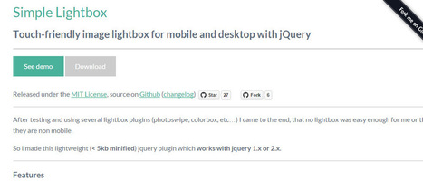 Simple Lightbox is a Touch-Friendly Lightbox for jQuery Users | Bazaar | Scoop.it