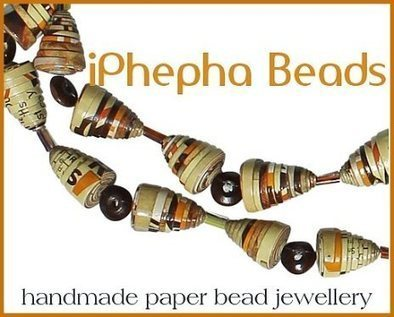 Eco Friendly and Fairtrade Paper Bead Necklaces