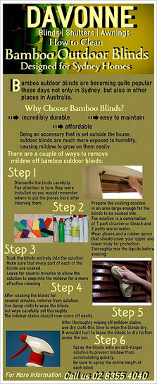 How to Clean Bamboo Outdoor Blinds Designed for Sydney Homes | Davonne blinds | shutters | awnings | Scoop.it
