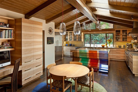 Mid-Century Modern Dining Area with Colorful Transparent Chairs | Simple Decorating Ideas For Home | Scoop.it