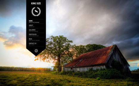 King Size – fullscreen background WordPress theme   Designrfix Gallery   Webdesign code   Scoop.it
