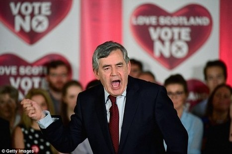 Gordon Brown roars into life: On the eve of historic vote, ex-PM gives the speech of the campaign so why wasn't he in charge of the No campaign from the beginning? | ESRC press coverage | Scoop.it