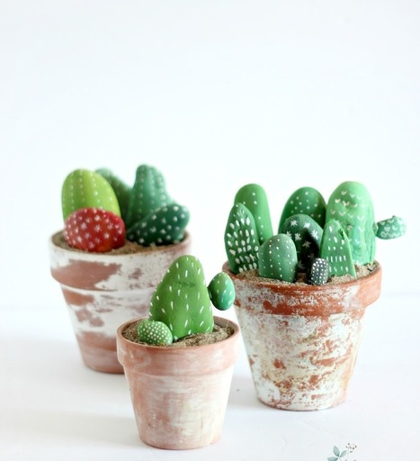 Cactus Sassi Dipinti | Love DIY | Scoop.it