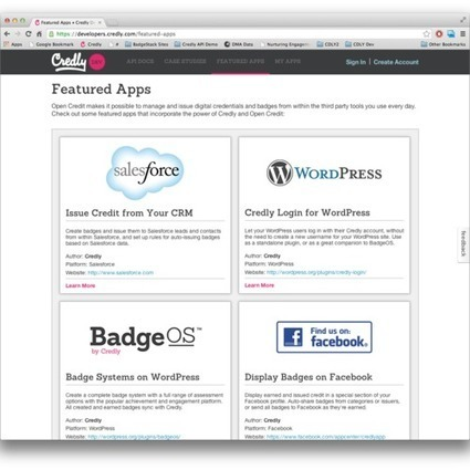 Create and Publish Your Own Apps Featuring Digital Badges and Credentials | TRENDS IN HIGHER EDUCATION | Scoop.it