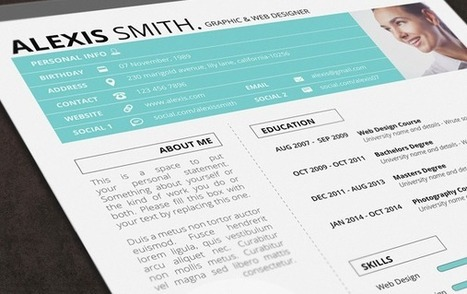 13 templates de CV para creativos | Educacion, ecologia y TIC | Scoop.it