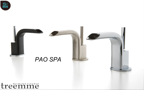 Collection de robinetterie de salle de bain PAO SPA - TREEMME | Design de la salle bain | Scoop.it