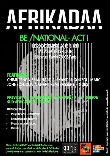 AFRIKADAA: AFRIKADAA présente BE NATIONAL à la Gaîté Lyrique   Afro design and contemporary arts   Scoop.it