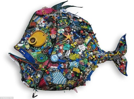 Amazing artworks made from beach trash and items found in the waves | Creativity | Scoop.it