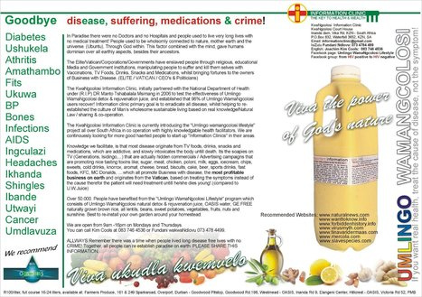 Cures what ails you : The Umlingo WamaNgcolosi wonder juice | Natural Cures | Scoop.it