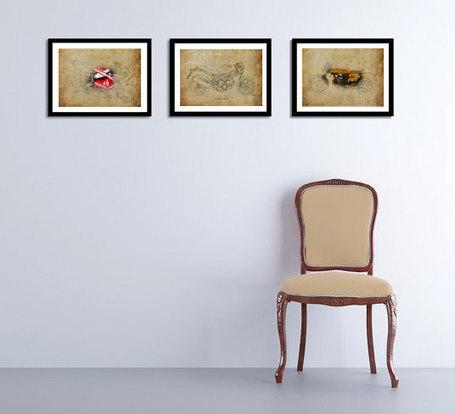 DUCATI, Set of 3 Prints, 11.5x16, SAVE us15, Original Drawings Prints, 1973, 2007, 2013 | Ducati Art | Scoop.it