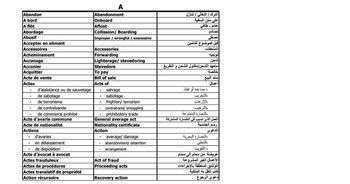 (AR) (FR) (EN) (XLS) - LEXIQUE MARITIME | Zineb Hilali | Glossarissimo! | Scoop.it