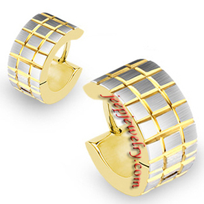 Wholesale 316L Surgical Stainless Steel Gold Plated Hoop Brushed Steel Square Earrings - $ 2.12 : Steel Jewelry | How to choose an ideal jewelry for your lover | Scoop.it