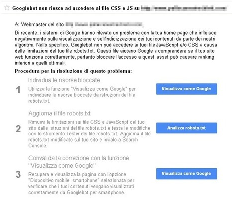 Googlebot non riesce ad accedere ai file CSS e JS | Total SEO | Scoop.it