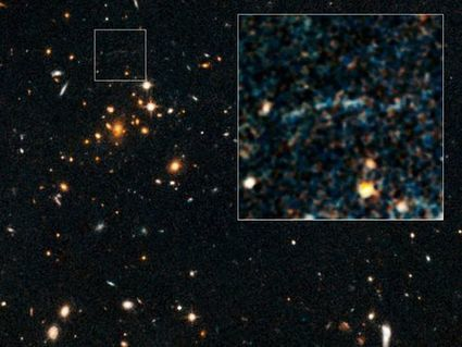 Giant Arc of Light --A Mystery Observed Behind a Super-Massive Galaxy 10 Billion Light Years Away | Science is Cool! | Scoop.it