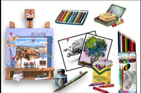 An art Lesson and a song.Lovely, fun brainfriendly song and gap comprehension worksheet from French teacher, Renée Maufroid. | Brainfriendly, motivating stuff for ESL EFL learners | Scoop.it