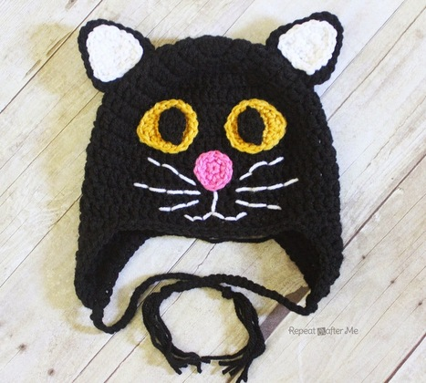 Repeat Crafter Me: Crochet Black Cat Hat | Crochet with Meladora's Creations | Scoop.it