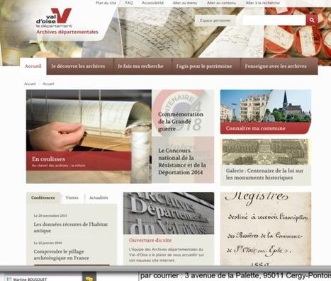 Les archives départementales ont leur site internet - La Gazette du Val d'Oise   Nos Racines   Scoop.it
