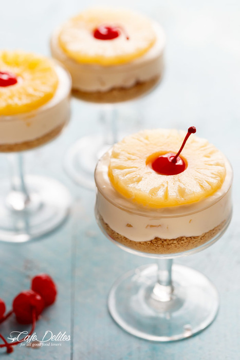 No-Bake Pineapple Cheesecakes | Passion for Cooking | Scoop.it