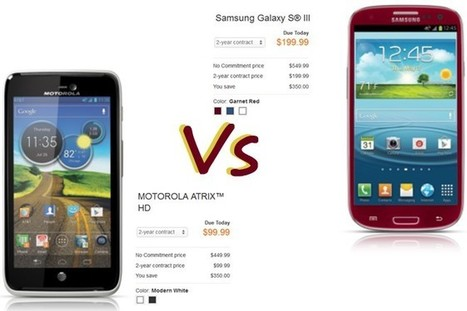 Samsung Galaxy S3 vs Motorola Atrix HD: which one you want? | Mobile IT | Scoop.it