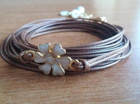 Wrap Leather Bracelet Brown Leather Bracelet Autumn par GULDENTAKI | My Jewelrys | Scoop.it