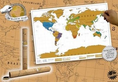 scratch map poster planisphere gratt. Black Bedroom Furniture Sets. Home Design Ideas