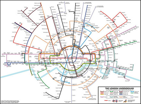 Subway Maps Of Cities Around The World Redesigned In A Circular Format | visual data | Scoop.it