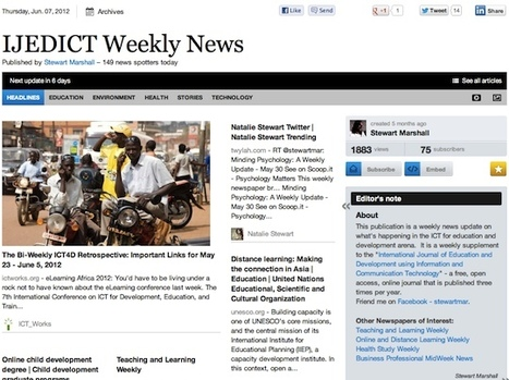 IJEDICT Weekly News - June 7   Studying Teaching and Learning   Scoop.it