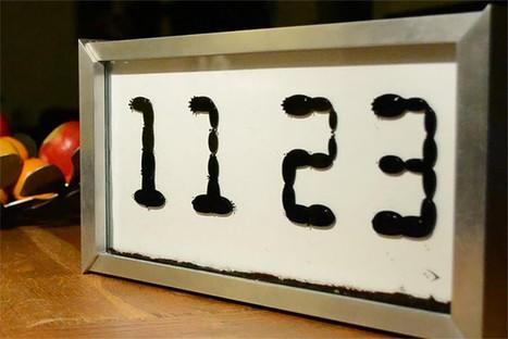 "Unorthodox ""Ferrolic"" clock displays the time with magnets and ferrofluid | Art et Publicité | Scoop.it"