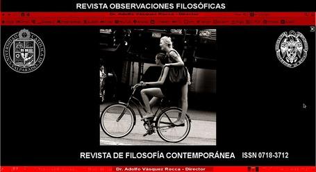ADOLFO VÁSQUEZ ROCCA: REVISTA OBSERVACIONES FILOSÓFICAS _ REVISTA DE FILOSOFÍA CONTEMPORÁNEA CALL FOR PAPERS FILOSOFÍA CONTEMPORÁNEA Y POSTMODERNA _ DR. ADOLFO VÁSQUEZ ROCCA DIRECTOR | ADOLFO VÁSQUEZ ROCCA | Scoop.it