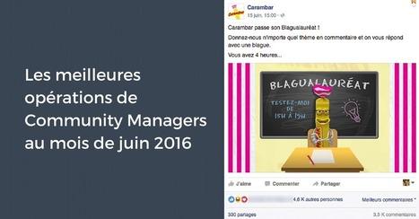 Les meilleures opérations de Community Manager au mois de juin 2016 | Communiquer sur les médias sociaux | Scoop.it
