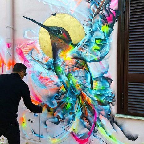 Street Art Birds – Les créations explosives et colorées de L7M | Biodiversité | Scoop.it