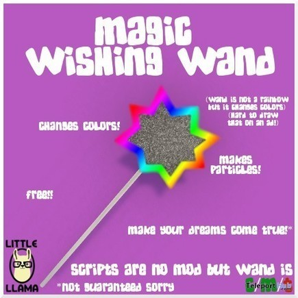 Magic Wishing Wand by Little Llama | Teleport Hub - Second Life Freebies | Second Life Freebies | Scoop.it