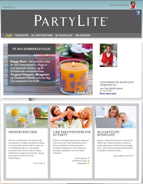 Jan Tore Wolff-Løland sin PartyLite side! | PartyLite Candles | Scoop.it